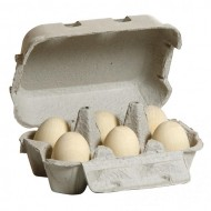 Eier, weiss im Karton