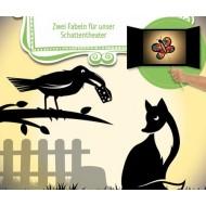 Zwei Fabeln für unser Schattentheater -Der Rabe und der Fuchs. - Die kluge Krähe.
