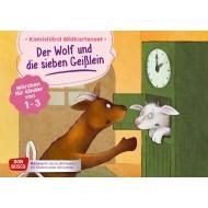 Der Wolf und die sieben Geißlein. Märchen für Kinder von 1–3. Kamishibai Bildkartenset.