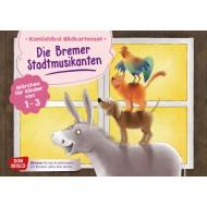 Die Bremer Stadtmusikanten. Märchen für Kinder von 1–3. Kamishibai Bildkartenset