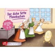 Der dicke fette Pfannkuchen. Märchen für Kinder von 1–3. Kamishibai Bildkartenset