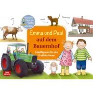 Emma und Paul auf dem Bauernhof.  Ausgestanzte Figuren zum Spielen und Erzählen
