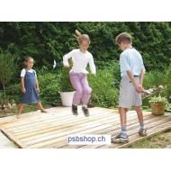 Gummitwist 5 m Regenbogen für Schulsport und Pausenhof.