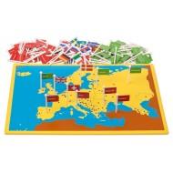 Länder, Hauptstädte und Flaggen Europas, Steckkarte Europa