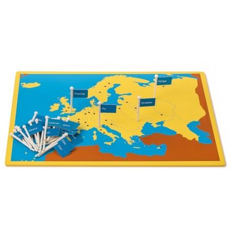 Flüsse Europas, Steckkarte aus Holz