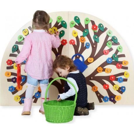 Freispiel - Wandbord - Busch zum Stecken für ganz kleine Hände
