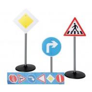 Verkehrsschilder-Set mit 3 Ständern