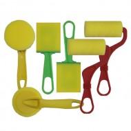 6er Set Schaumstoffpinsel und Farbroller für die Kreativarbeit
