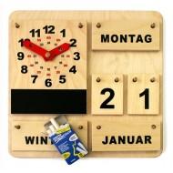 Holzkalender mit Aktionsuhr
