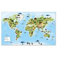 10 Arbeitsfolien für die begehbare Weltkarte, 180 x 110 cm