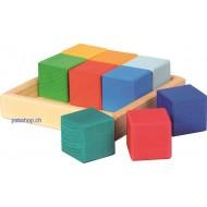 Baukasten Quadrat Würfel, 9-teilig